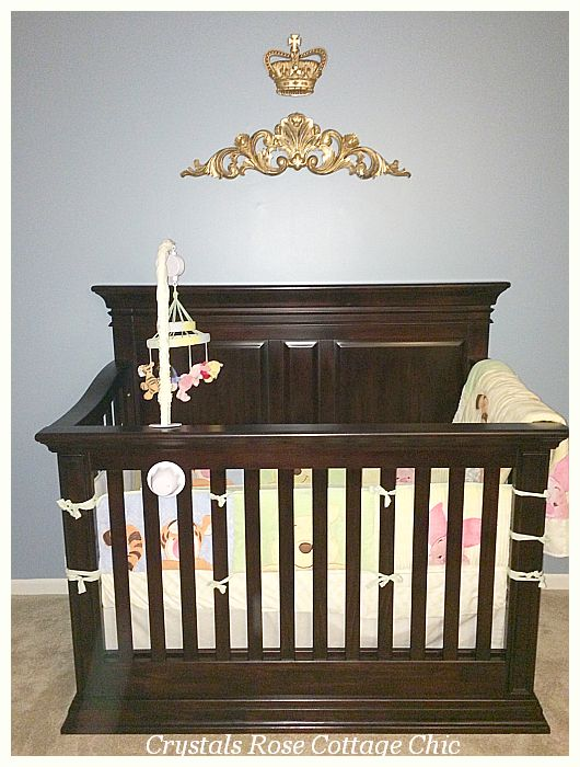 Prince theme baby boy nursery bed crown