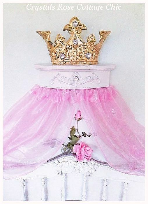 Royal Gold and Pale Pink Romantic Bed Crown Canopy...Color Chices