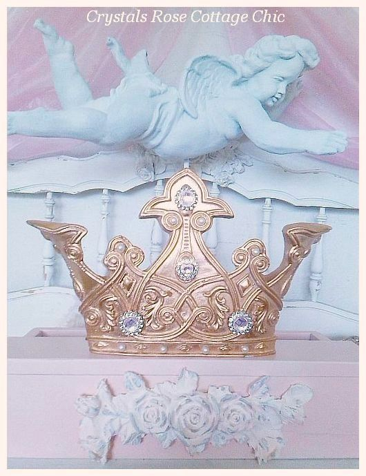 Shabby Elegance Bed Crown Teester....Color Choices