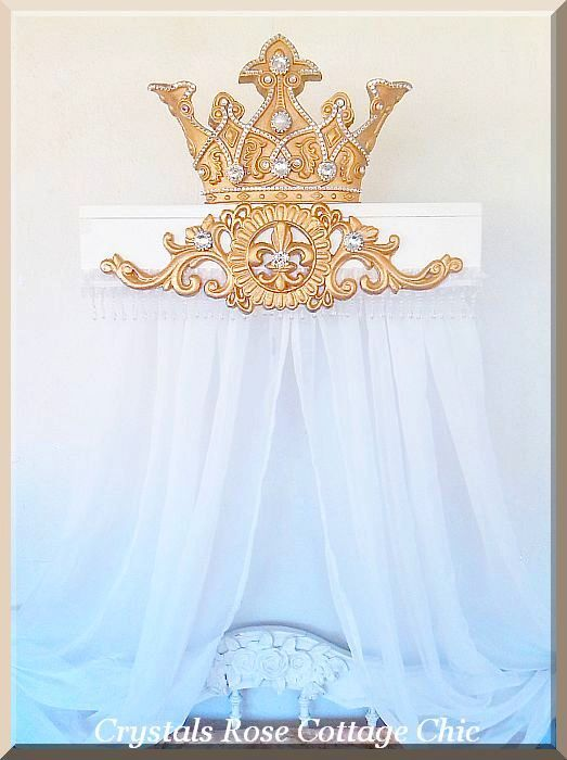 Majestic Abundance Bed Crown Canopy Teester....Color Choices