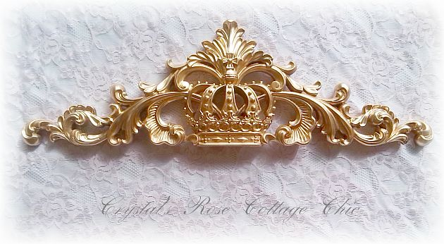 Three Piece Ornate Frame and Crown Set...Color and Finish Choices