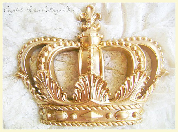 Gold Fleur De Lis Bed / Wall / Party Crown