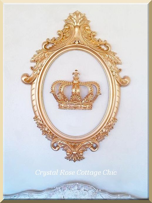 French Crown and Ornate Oval Frame