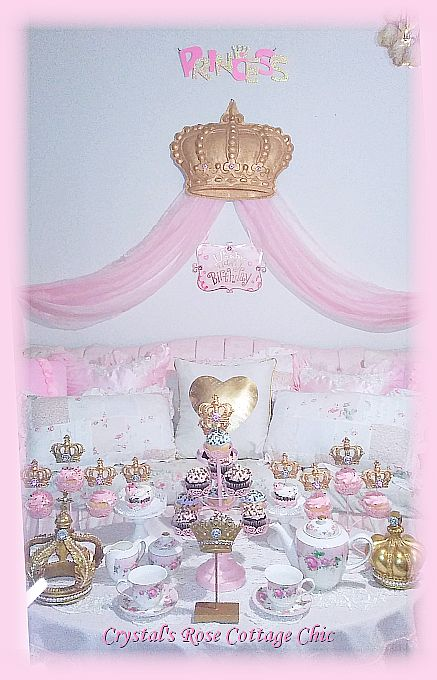 "Party/Bed Crown Canopy Decor 23"" x 17"" Color Choices"