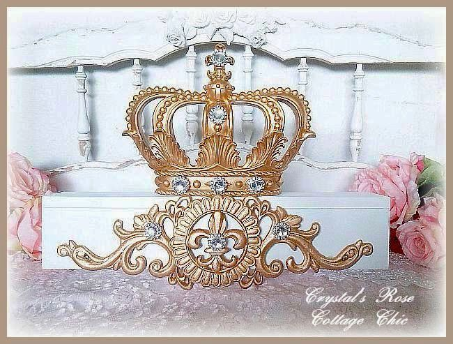 Payment 2 for White and Gold Bed Crown Teester