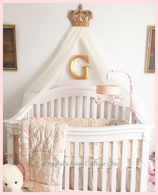 Gold Fleur de Lis Bed / Wall / Party Crown