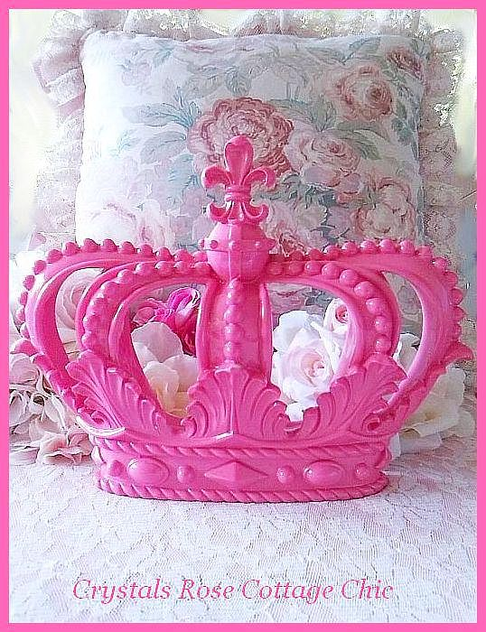 Hot Pink Fleur de Lis Wall or Bed Crown