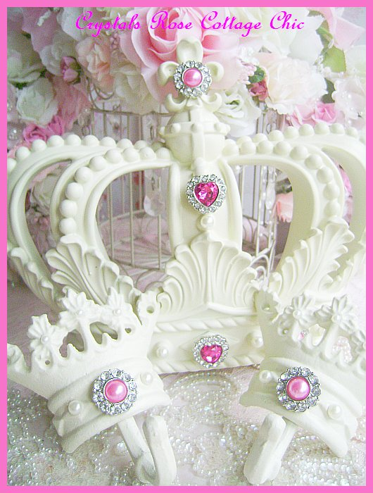 French Ivory Fleur de Lis Bed Crown Canopy Set Embellished..Color Choices