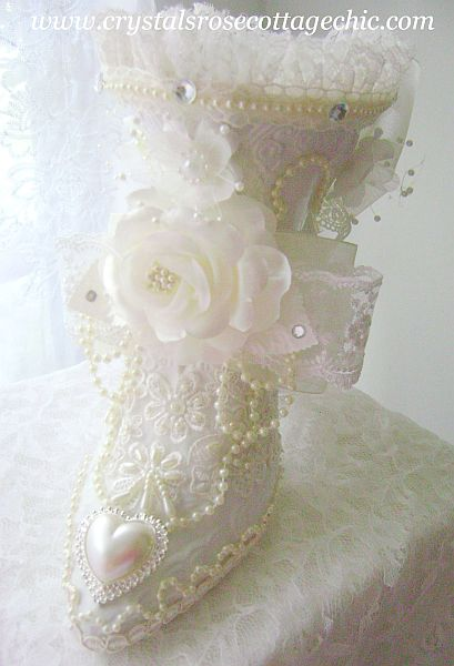 Ivory and White Victorian Boot