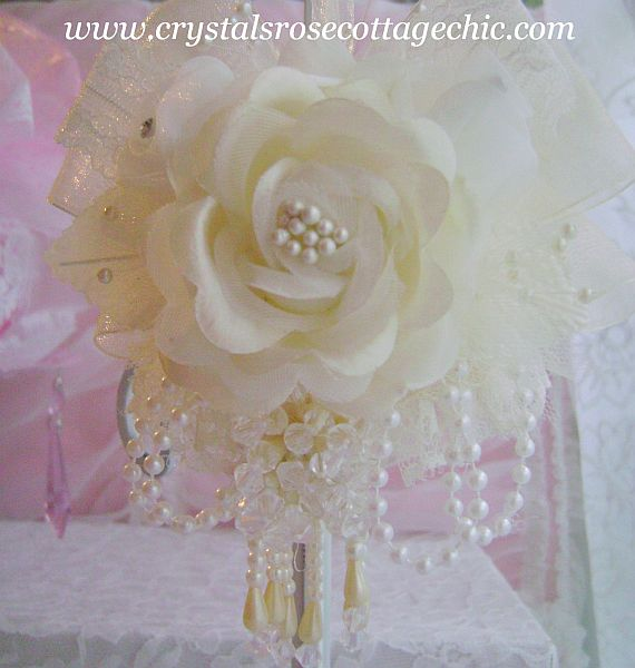 Ivory Rose Victorian Ornament