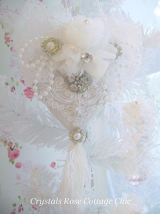 White Wedding Romantic Keepsake Ornament