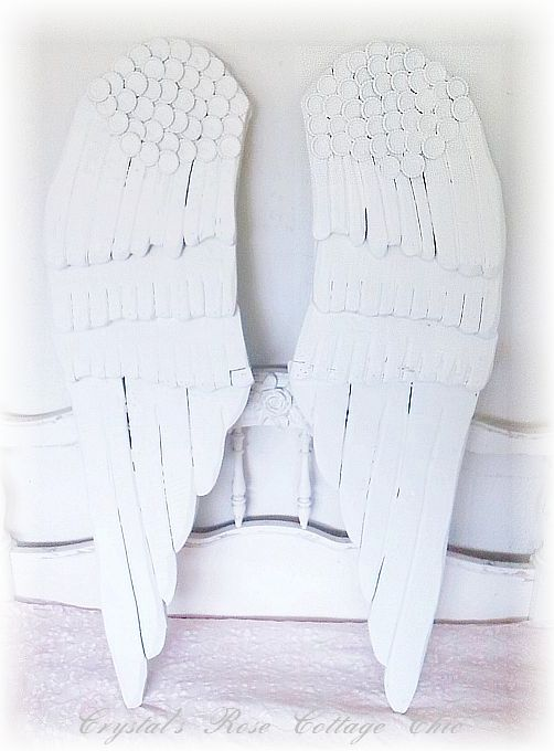 Shabby Chic Wings Wall Decor..Color Choices