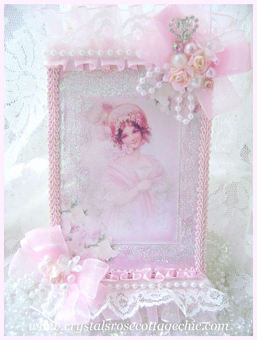La Belle Victorian Girl in Pink Card