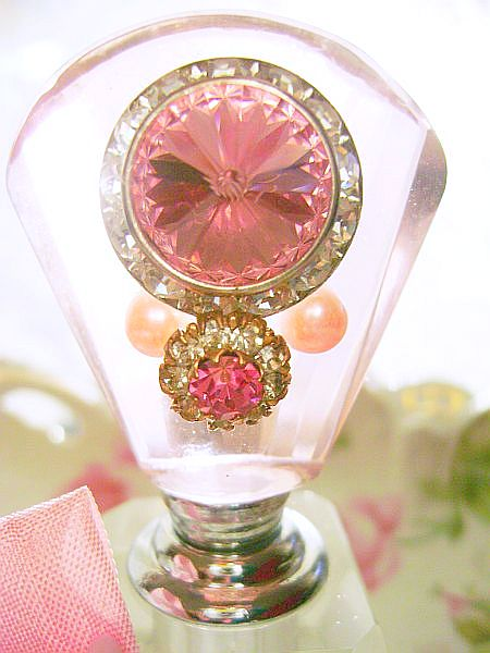 La Petite Pink Bejeweled Perfume Bottle