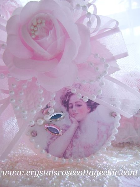 Lady in Pink Embellished Bottle