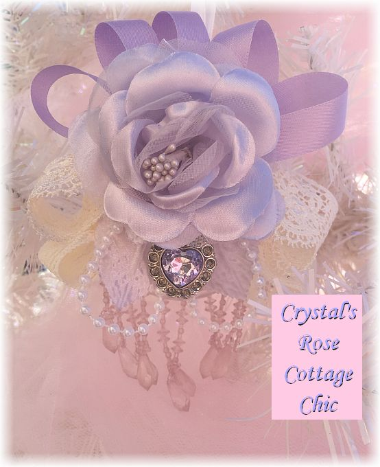 Lovely Lavender Rose Victorian Ornament