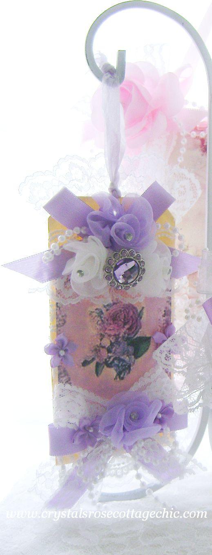 Lavender Rose Tag