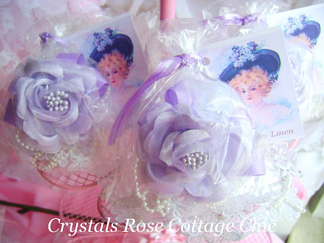 Lavender Rose Embellished Soap