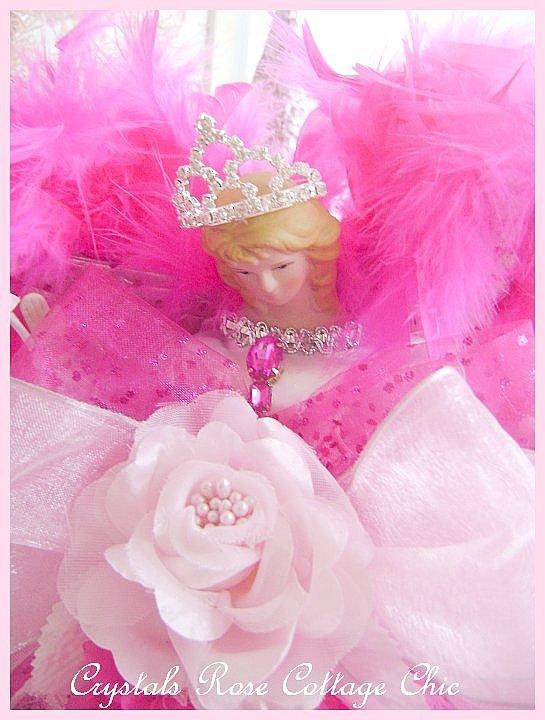 Bright Pink Light Pink Princess Angel Tree Topper