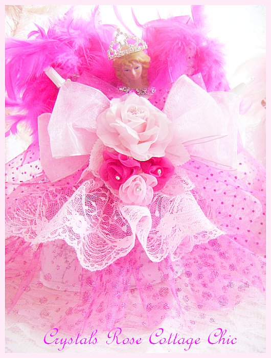 Bright Pink Light Pink Princess Angel Tree Topper