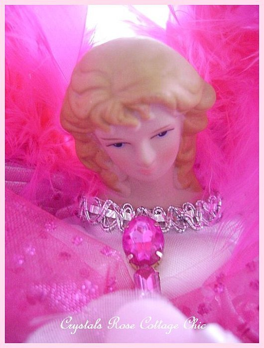 Bright Pink Light Pink Angel Tree Topper