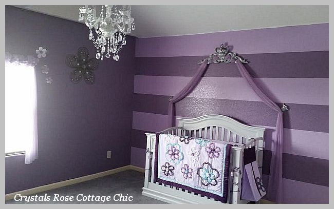 Lilac and Grey Bed Crown Canopy Pediment Nursery / Bedroom Decor