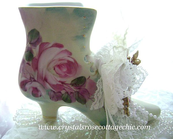 Limoges China Victorian Shoe