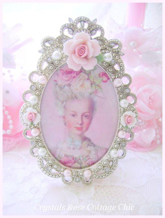 Pink Porcelain Rose Frame Marie