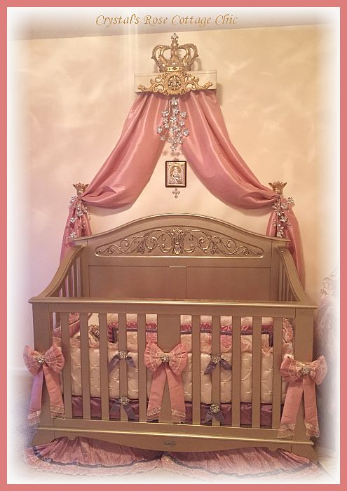 Nursery bed crown canopy teester
