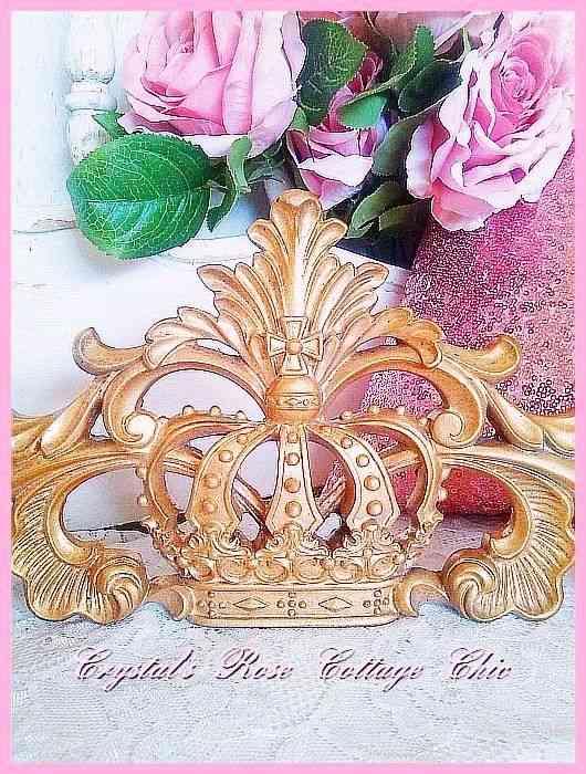 Ornate Crown Applique / Pediment...Paint Color & Finish Choices