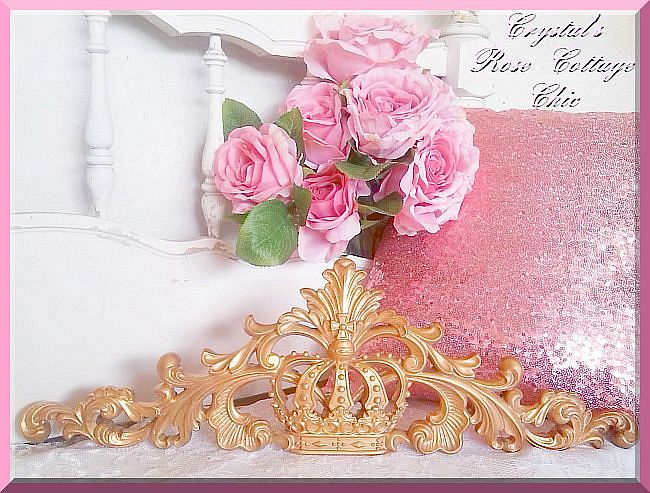 Ornate Crown Applique / Pediment...Paint Color & Finish Choices