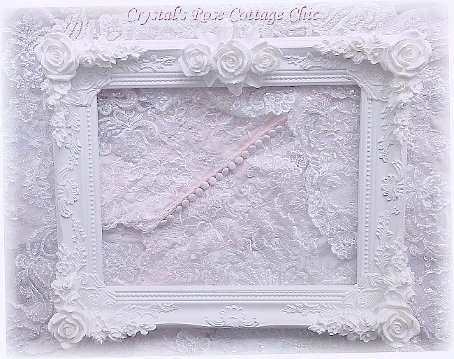 "Shabby Rose Ornate 11"" x 14"" Frame"