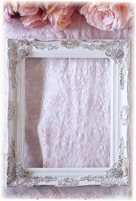 Ornate Distressed Frame with Rhinestone Touches...Size & Color Options