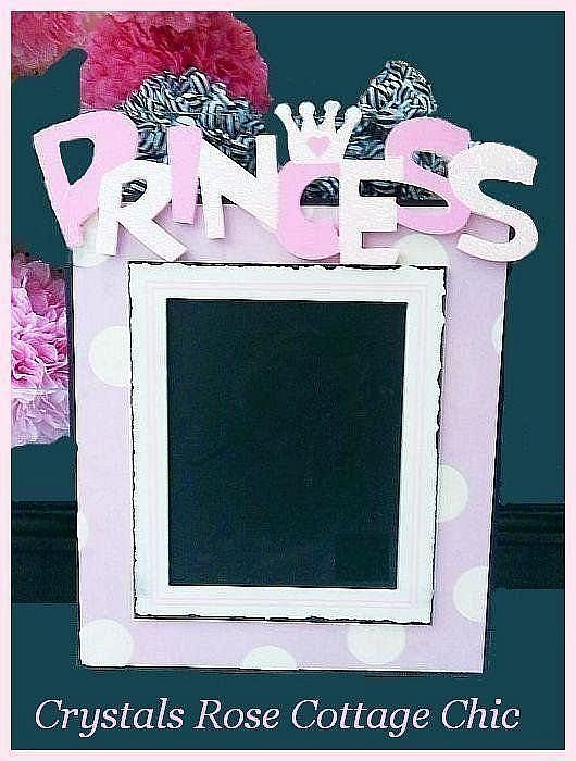 Pink Princess Polka Dot Chalkboard
