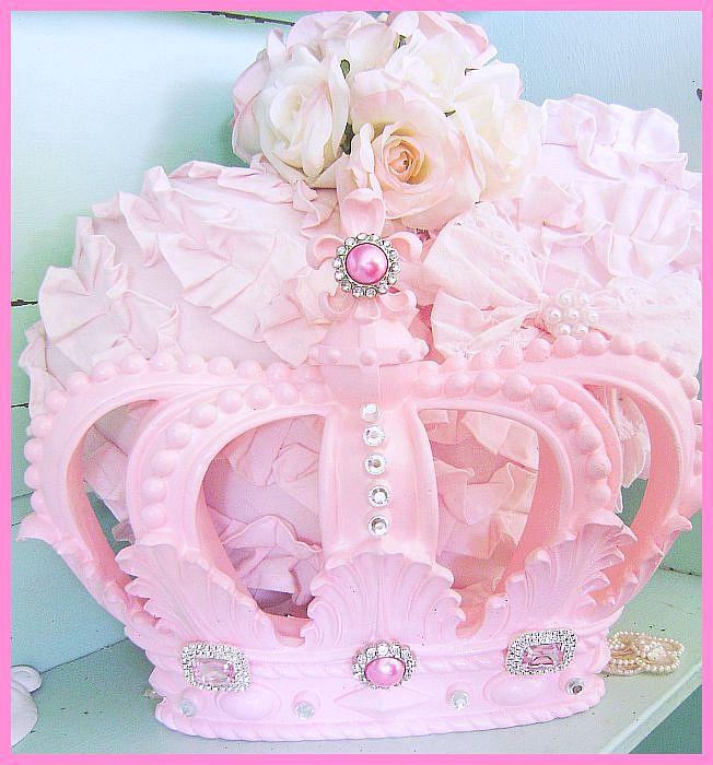 Bejeweled Pink Princess Fleur de Lis Crown
