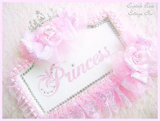 Pink Princess Sign with Rhinestone Tiara