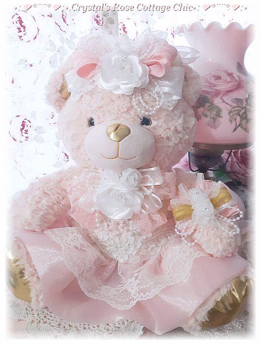 "17"" Pretty Peachy Blush Bear ...Free Shipping"