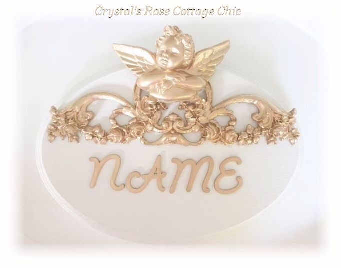 Personalized Cherub Name Plaque..Color Options