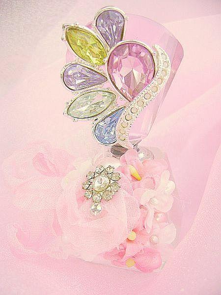 Petite Pastel Bejeweled Perfume Bottled