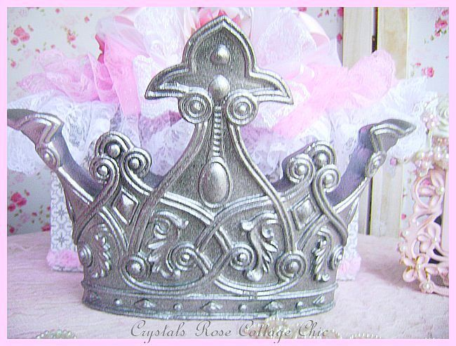 Royal Bed Crown Canopy Set Pewter...Color Options