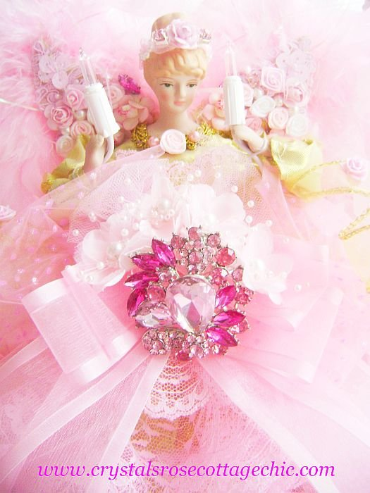 Pink Rhinestone Bejeweled Angel