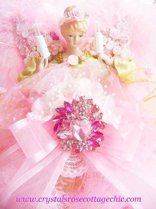 Pink Rhinestone Bejeweled Angel