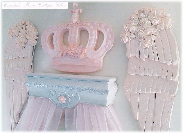 Shabby Rose Canopy Shelf...Color Choices