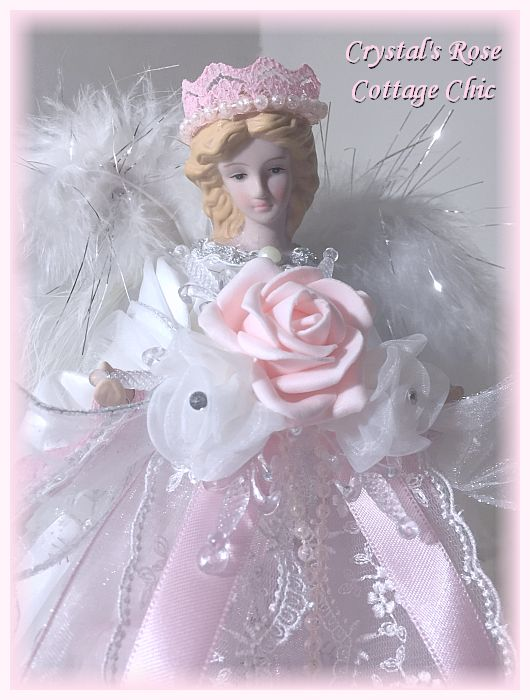 Pink Princess Snowflake Angel