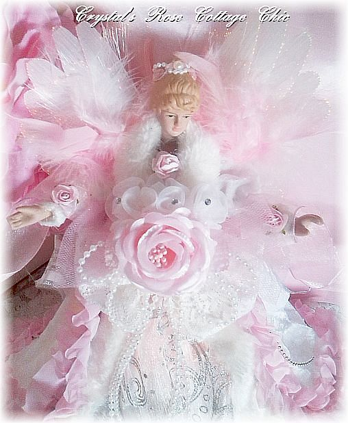 Pink Rose Fiber Optic Angel Topper