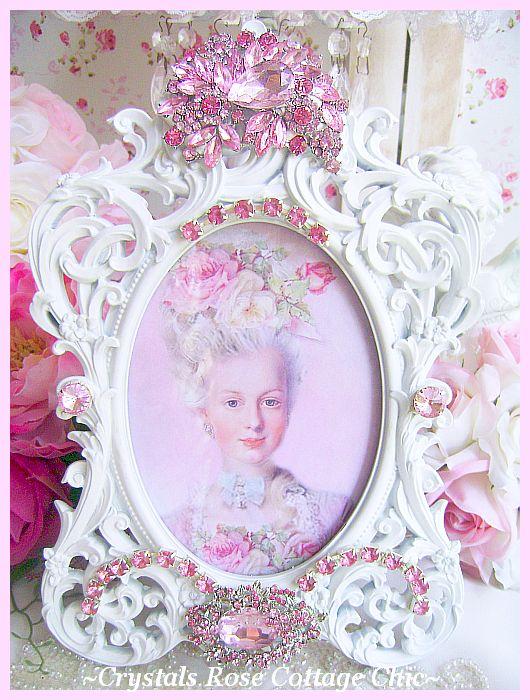 Pink Crystal Bejeweled Decadence Frame