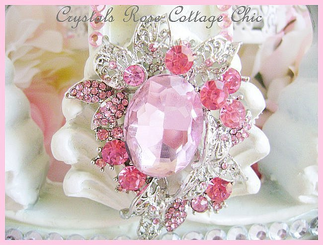 Pink Crystal Princess Ivory Bed/Wall Crown