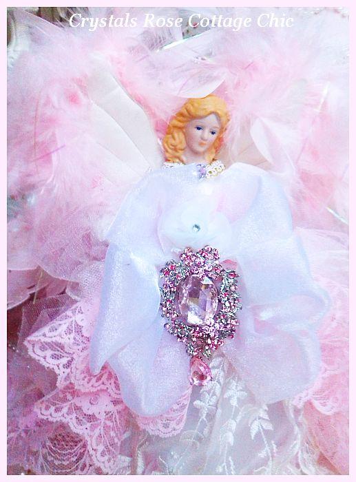 Pink Crystal Princess Angel Tree Topper