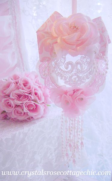 Romantic Pink Damask Ornament