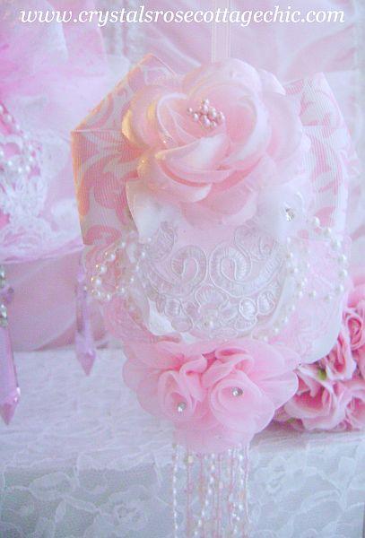 Romantic Pink Damask Ornament